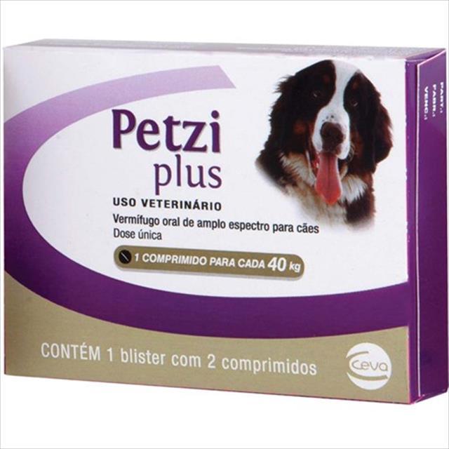 vermifugo ceva petzi plus 3,2 g para cães de 10 a 40 kg - 2 comprimidos