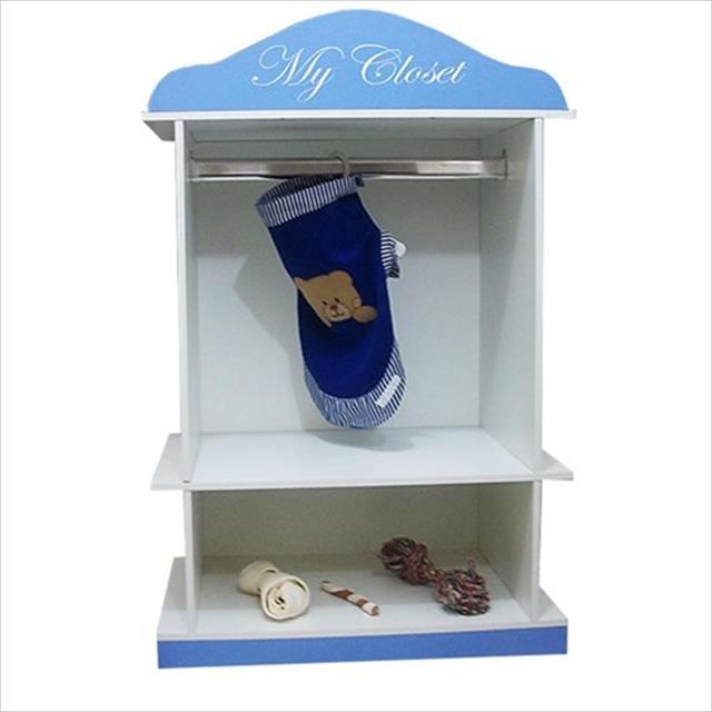 closet mobili pet desmontável - azul