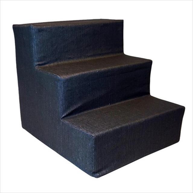 escada futon dog para cães até 20 kg - jeans black