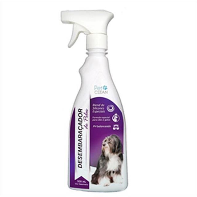 desembaraçador pet clean de pelos para cães e gatos - 500 ml