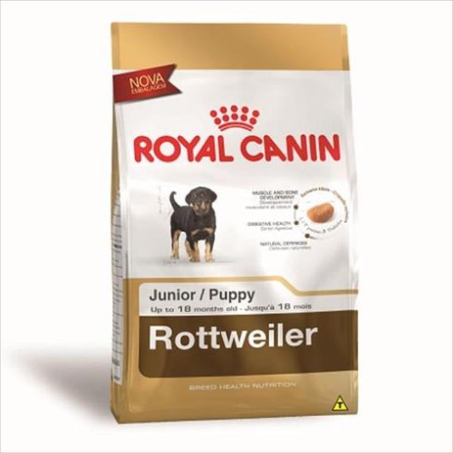 ração royal canin para cães filhotes da raça rottweiller - 12 kg