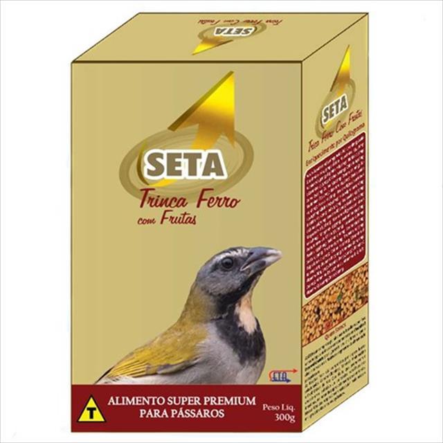 alimento seta super premium trinca ferro frutas - 300gr