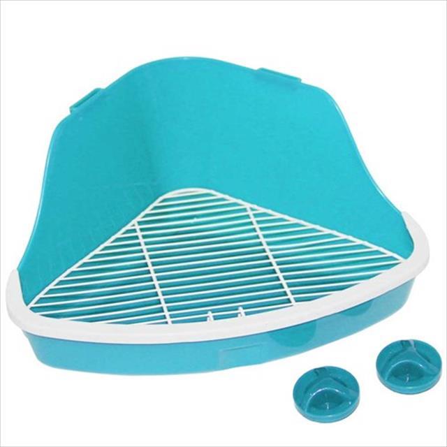 banheiro pawise de canto para roedores - azul banheiro pawise de canto para roedores azul -  tam. p