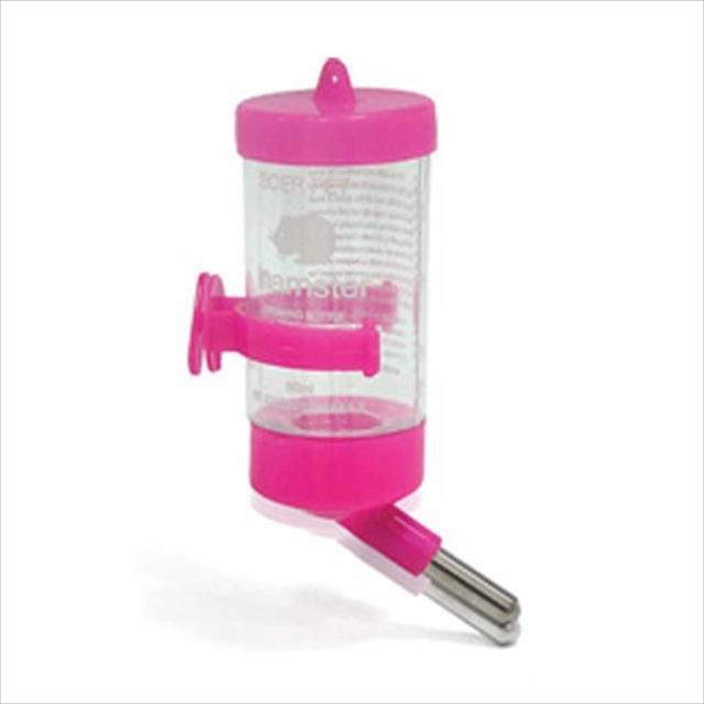 bebedouro chalesco drinker para hamster - rosa bebedouro chalesco drinker para hamster rosa - 80 ml