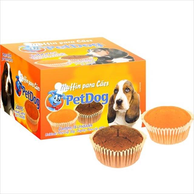 muffin pet dog sabor laranja - 30 g