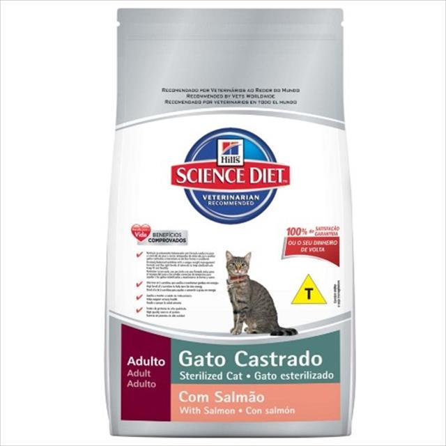 ração hills science diet sterelized salmão para gatos adultos castrados - 400gr