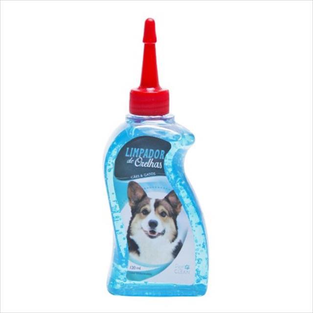 limpador de orelha pet clean para cães e gatos - 500 ml