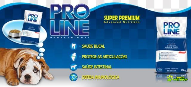 ração pro line adulto 15kg super premium - professional advanced nutrition