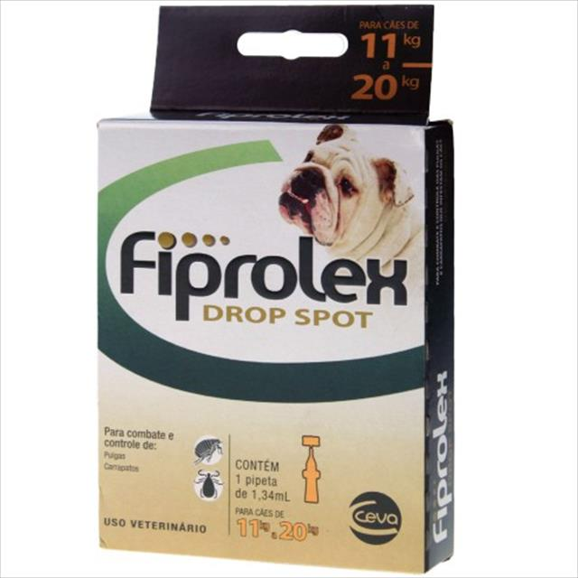 anti pulgas e carrapatos ceva fiprolex drop spot para cães de 11 a 20 kg anti pulgas e carrapatos ceva fiprolex drop spot - cães de 11 a 20 kg