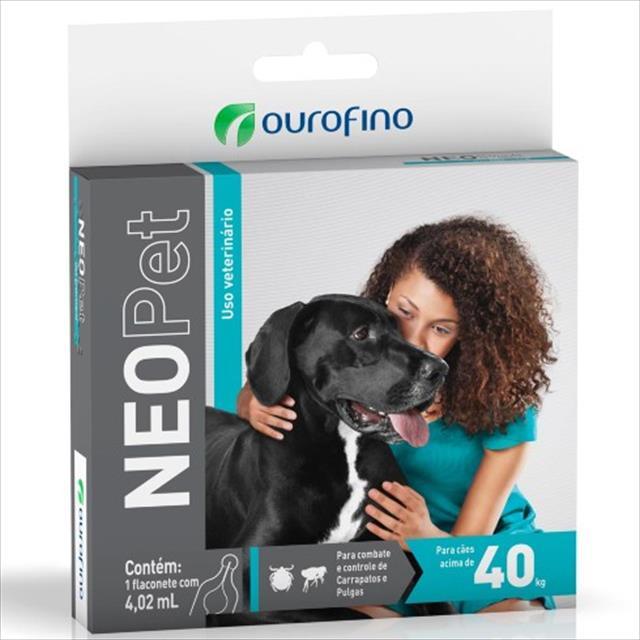 anti pulgas e carrapatos ouro fino neopet 4,02ml para cães até 40 kg anti pulgas e carrapatos ouro fino neopet 4,02ml - cães até 40 kg