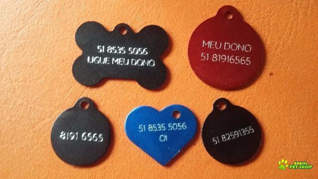 placa de identificação pet