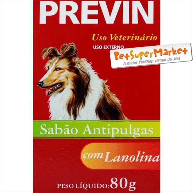 sabão p/ combater pulgas previn - 80g