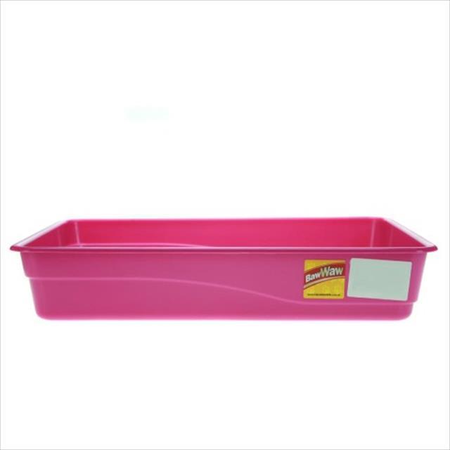 bandeja de areia baw waw para gatos - rosa